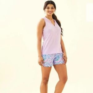 Lilly Pulitzer Essie tank top in Lilac Freesia XXS